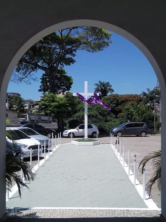 Novo acesso da Capela Militar Nossa Senhora da Vitória, no QCG