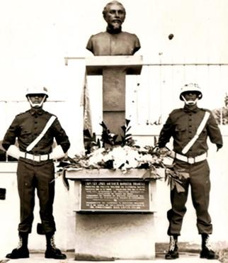 Busto do Capitão João Antunes Barbosa Brandão - Solenidade de 06 de abril de 1969