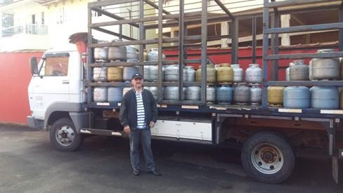 """Sr """"Pedro do gás"""" agradece em nome dos comerciantes de gás da região serrana de Domingos Martins e Marechal Floriano"""